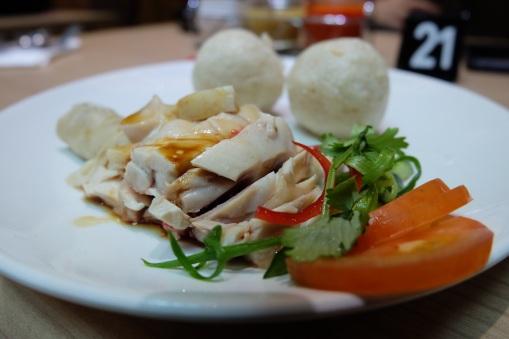 Hainanese Chicken Rice Ball with Steamed Chicken